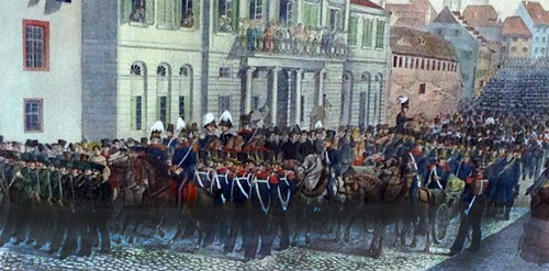 Grosse Parade in Basel (1831)